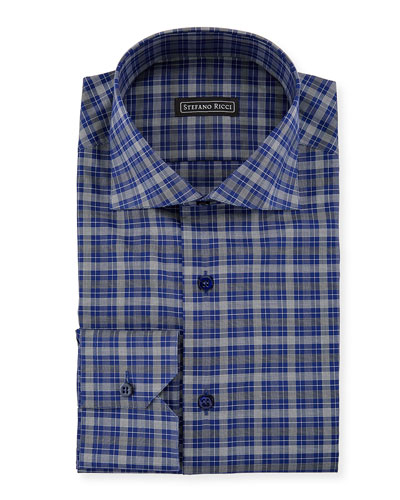 Men's Salerno Collar Check Dress Shirt