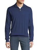 Stefano Ricci Men's Mock-Neck Half-Zip Sweater