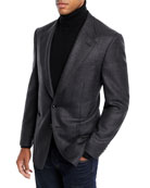 TOM FORD Men's Shelton Melange Wool/Silk Blazer Jacket