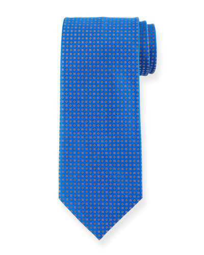 Mini Square & Dot Silk Tie