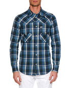 Dsquared2 Men's Western-Style Plaid Shirt