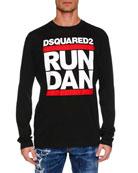 Dsquared2 Men's Run Dan Logo Graphic Long-Sleeve T-Shirt