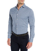Peter Millar Men's Fleming Performance Check Sport Shirt