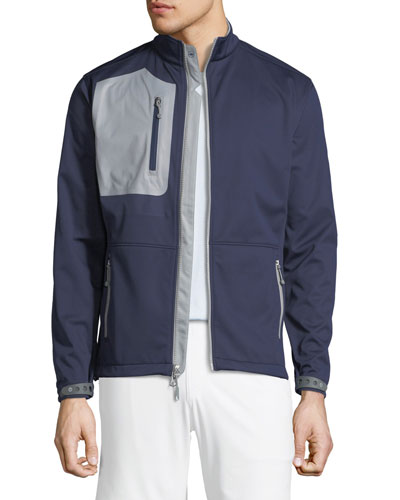 Men's Two-Tone Knit Soft Shell Jacket