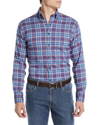 6b4df7ba26d0 Quick Look. Peter Millar · Men s Lawler Performance Check Flannel Shirt