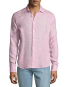 Orlebar Brown Men's Morton Tailored Sport Shirt, Pink