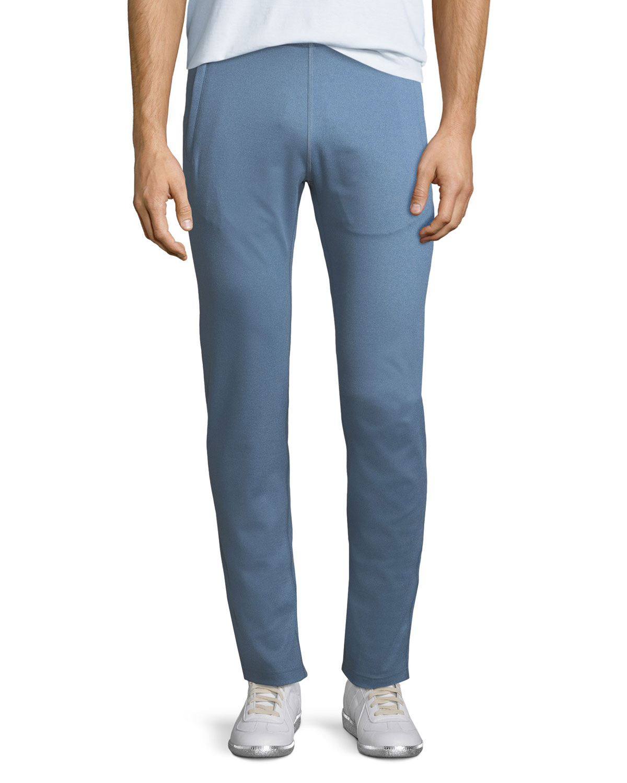 PETER MILLAR CROWN ACTIVE HELSINKI STRETCH JOGGER PANTS, BLUE