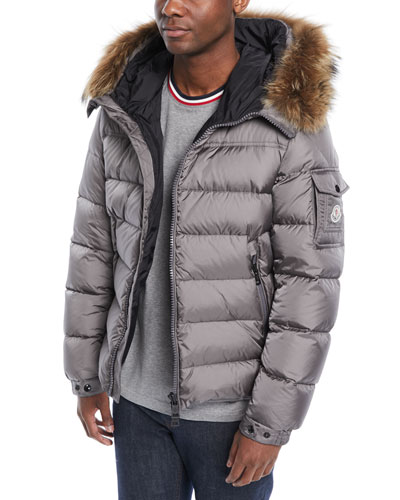 mens beige moncler coat