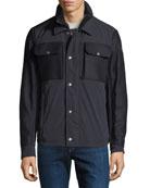 Moncler Men's Beaufort Zip-Front Utility Jacket
