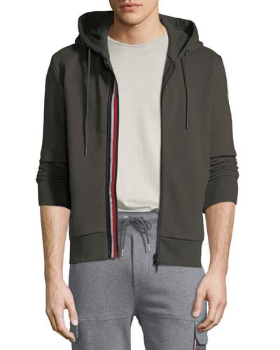 d1ff6a1e7d33 Quick Look. Moncler · Men s Striped-Placket Zip-Front Hoodie Sweatshirt