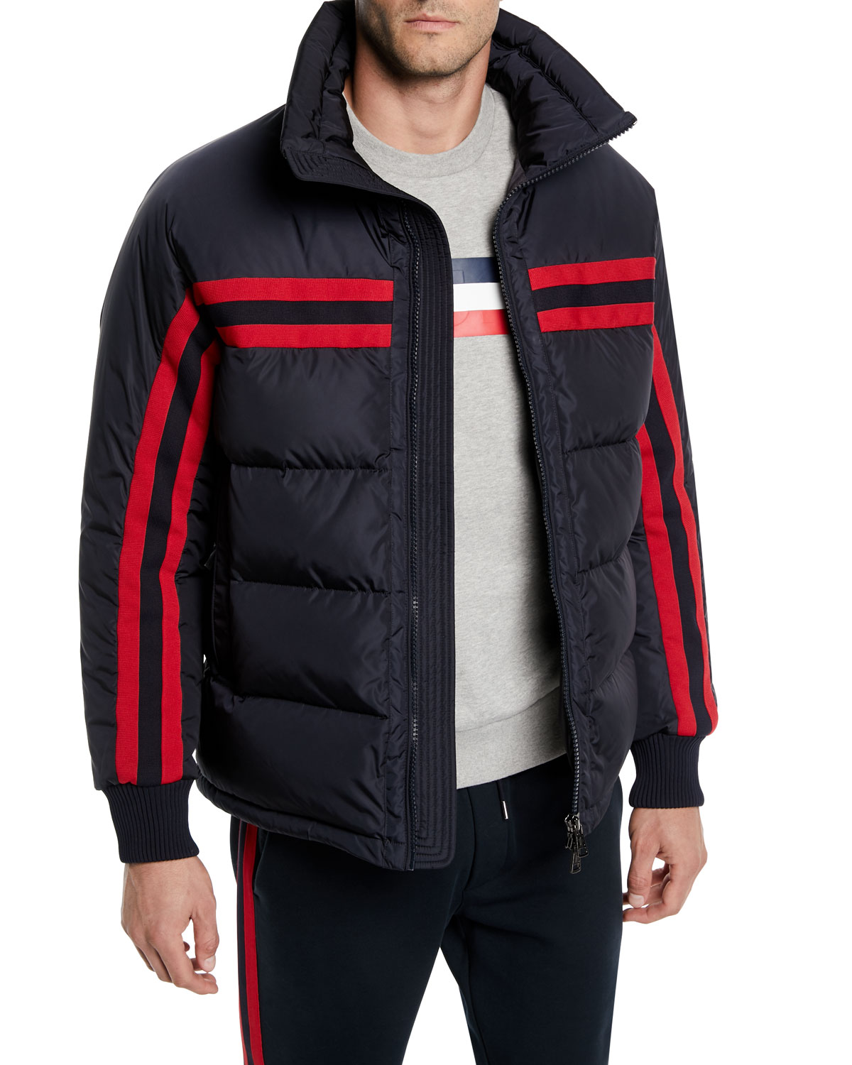 Men's Richard Striped Puffer Jacket