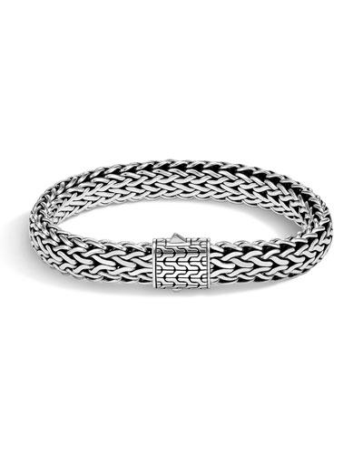 Men's Classic Chain Bracelet w/ Sterling Silver, Size M