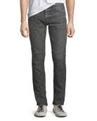 Hudson Men's Vaughn Distressed Skinny Ankle-Zip Jeans, Kingpin
