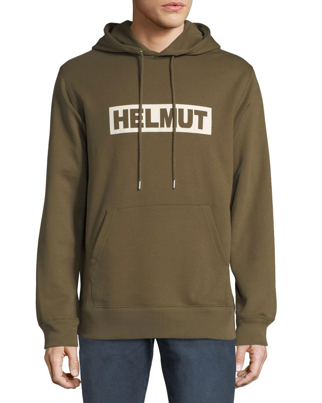 Men'S Logo Typographic Hoodie, Army