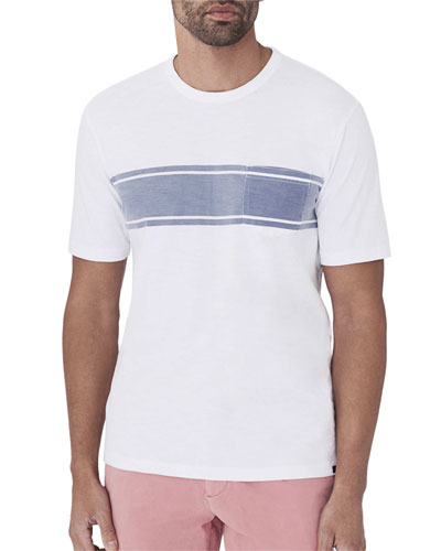 Men's Striped Pocket T-Shirt