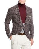Brunello Cucinelli Men's Check Wool Three-Button Sport Coat