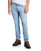 Brunello Cucinelli Men's 5-Pocket Light-Wash Jeans
