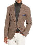 Brunello Cucinelli Men's Houndstooth Wool-Blend 3-Button Sport