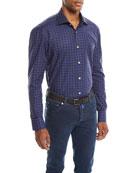 Kiton Men's Check Cotton Shirt
