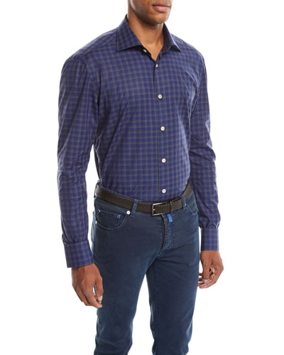 Men's Check Cotton Shirt