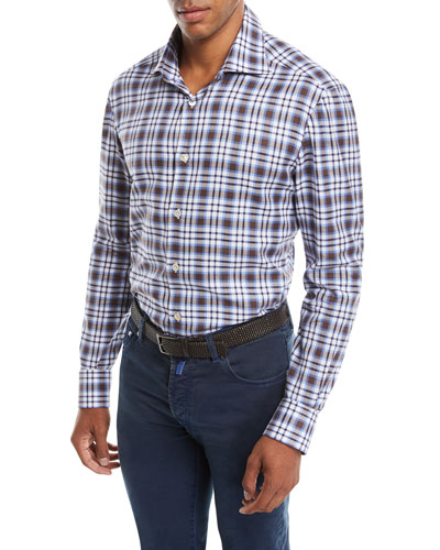 Men's Large-Check Cotton Shirt