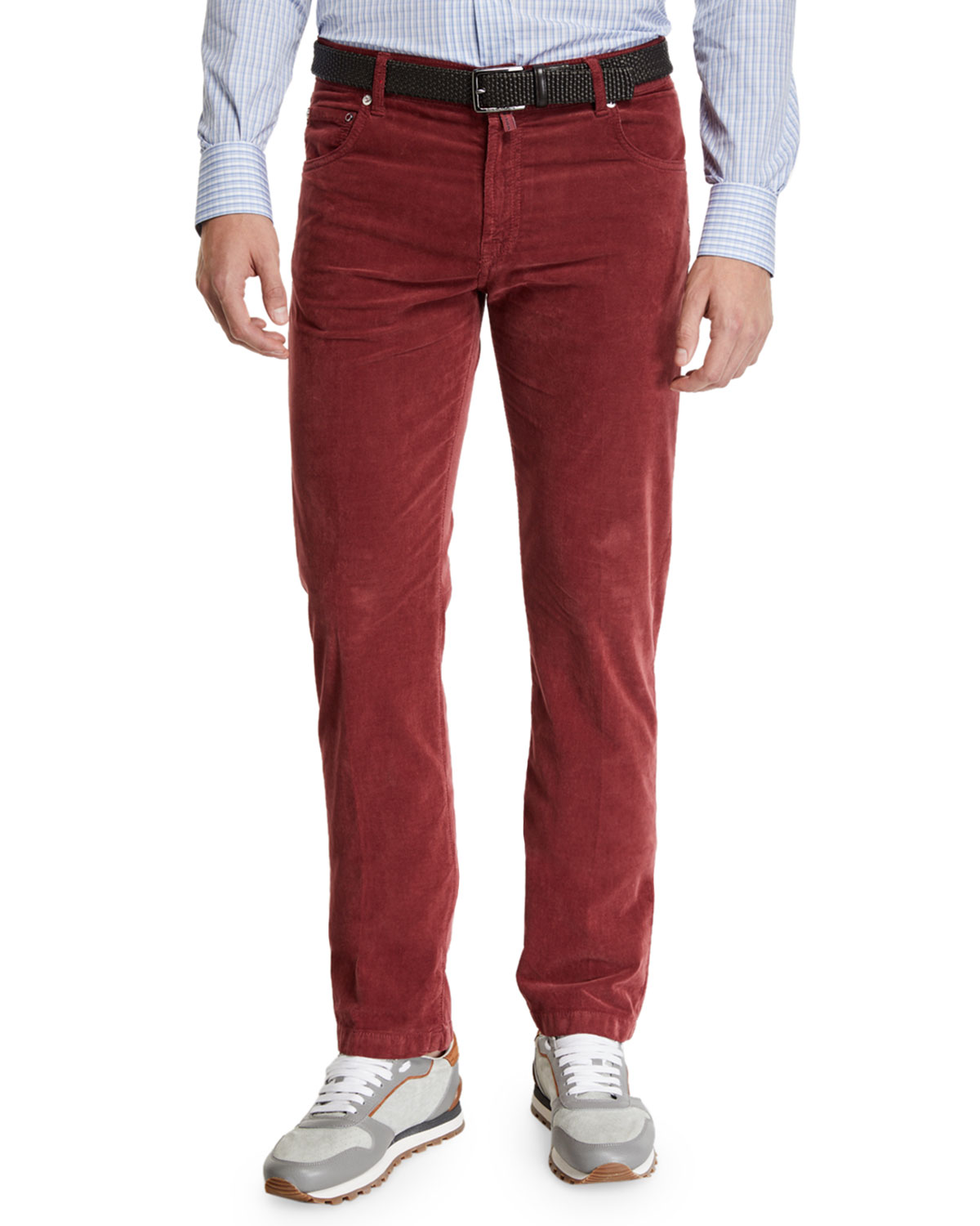 Kiton Pants MEN'S STRAIGHT-LEG CORDUROY 5-POCKET PANTS