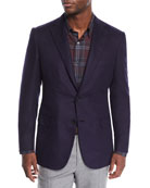 Brioni Men's Silk-Cashmere Two-Button Jacket