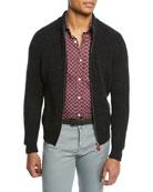 Kiton Men's Rib Full-Zip Cashmere Sweatshirt
