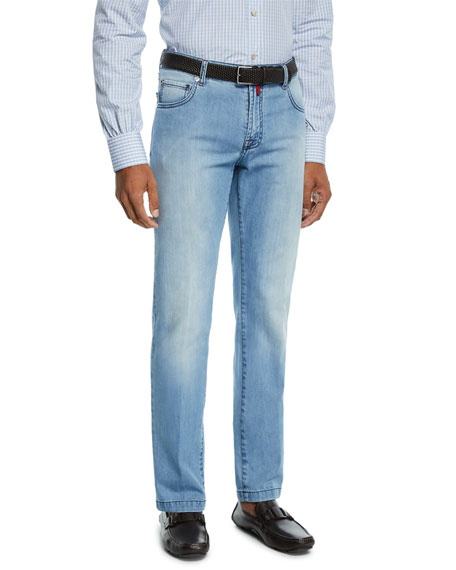 Kiton Men's Wash Denim Jeans