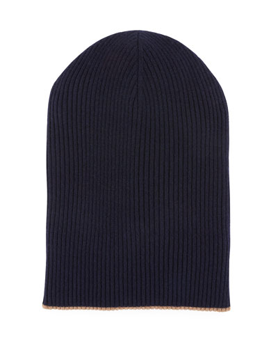 3d4031de9d1 Quick Look. Brunello Cucinelli · Men s Cashmere Reversible Ribbed Beanie Hat