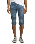 Hudson Men's The Blinder Biker Denim Shorts