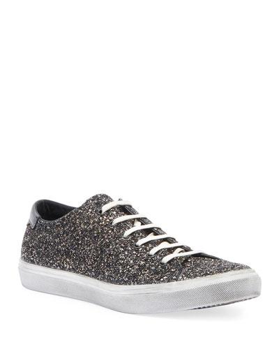 Men's Bedford Solid Glitter Low-Top Sneaker