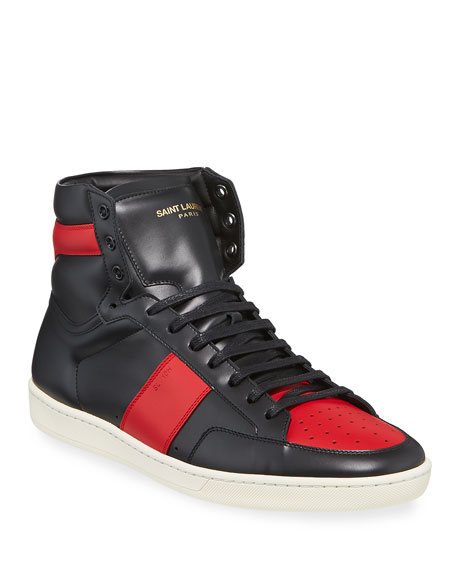 Saint Laurent Men's SL/10H Leather High-Top Sneakers