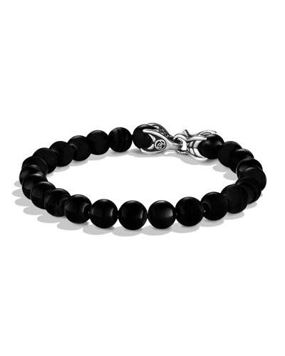 Men's Spiritual Beads Bracelet w/ Black Onyx