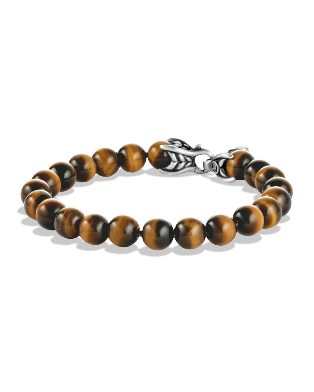 Men's Spiritual Beads Bracelet w/ Tiger's Eye