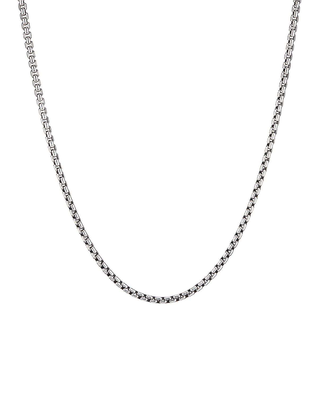 Men's Small Silver Box Chain Necklace