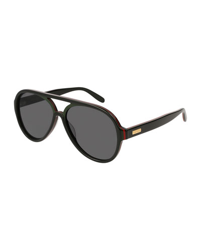 6ec08758def Quick Look. Gucci · Men s Shield Acetate Sunglasses. Available in Black