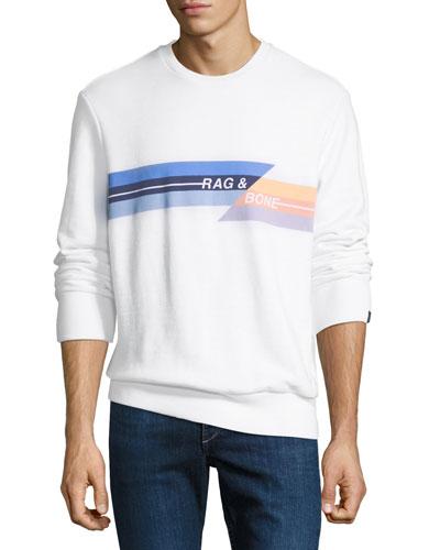Men's Glitch Graphic Sweatshirt