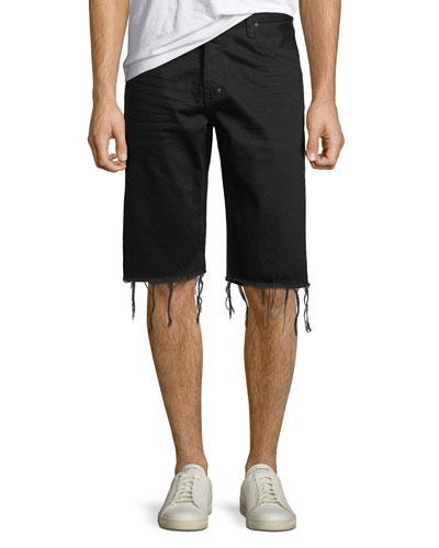 Men's Frayed-Hem Denim Shorts
