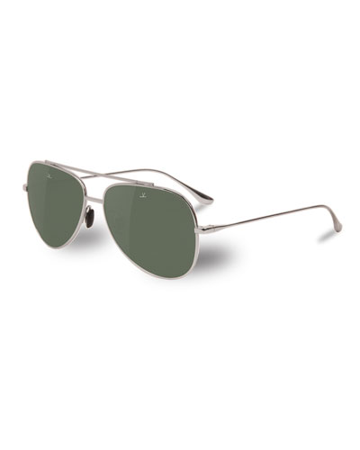 Men's Swing Large Titanium Pilot/Aviator Sunglasses
