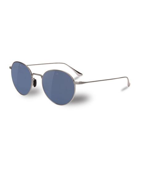 Vuarnet Swing Small Round Titanium Sunglasses
