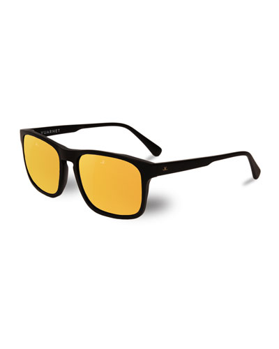 a93b6051fd Quick Look. Vuarnet · Men s District Large Rectangular Acetate Sunglasses
