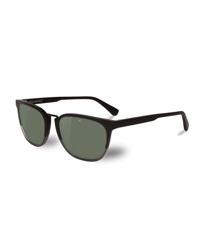 Men's Cable Car Square Polarized Stainless Steel/Acetate Sunglasses