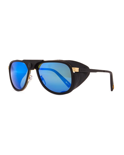 Glacier Pilot Sport Polarized Sunglasses with Detachable Leather Components