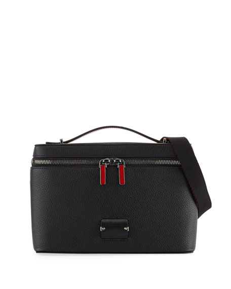 Christian Louboutin Men's Leather Zip-Around Pouch