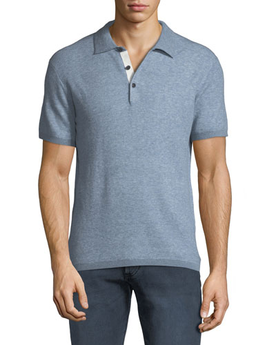 Men's Tripp Heathered Cotton/Wool Polo Shirt