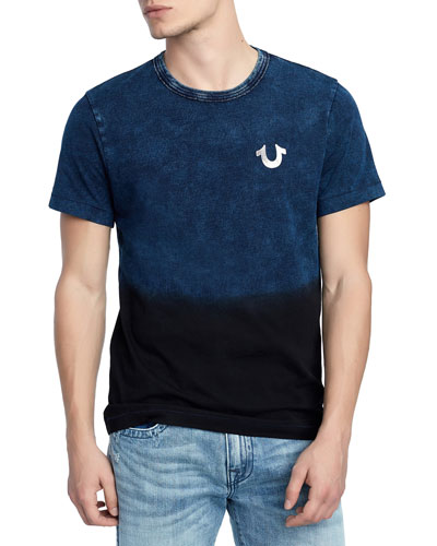 Men's Novelty Dip-Dyed T-Shirt