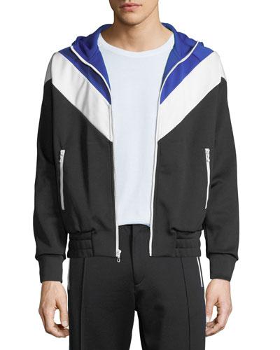 Men's Colorblock Zip-Front Hoodie