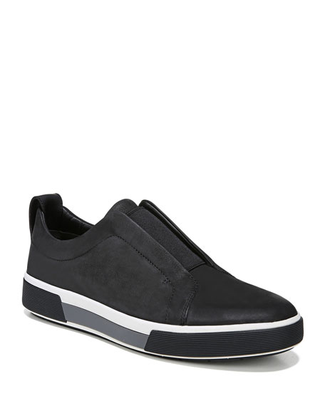 Vince Men's Ranger Suede/Canvas Slip-On Low-Top Sneakers