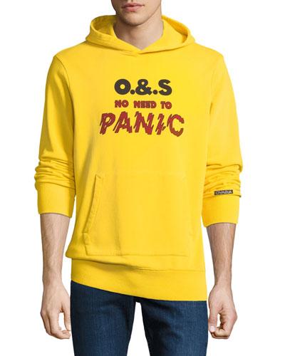 Men's Panic Graphic Cotton Hoodie Sweatshirt